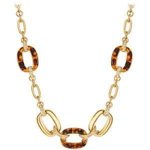 Colier-din-aliaj-placa-cu-aur-cu-elemente-Swarovski-Saint-Francis-Crystals