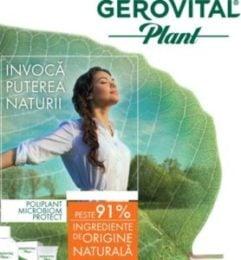 Farmec relanseaza Gerovital Plant – noua gama are ingrediente de origine naturala si ofera protectie naturala microbiana