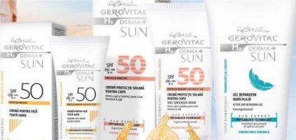 Farmec modernizeaza gama de dermatocosmetice solare Gerovital H3 Derma+ SUN