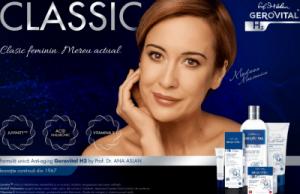 Farmec relanseaza gama Gerovital H3 Classic printr-o campanie cu actrita Medeea Marinescu