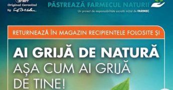 "Farmec extinde campania ""Ai grija de natura asa cum ai grija de tine"" la nivel national"